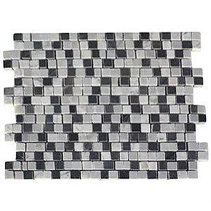Close Out - Broken Edge 3 / 4 Squares - White Carrara & Light Bardiglio & Dark Bardiglio