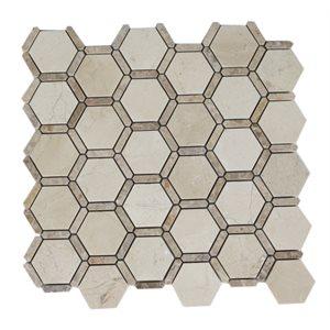 Honeycomb Crema Marfil & Light Emperador