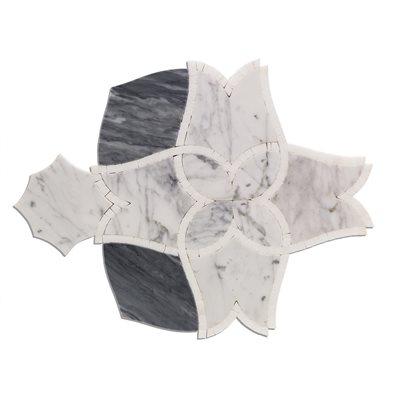 Alstromeria - White Carrara, Bardiglio Nuvelato & White Thassos