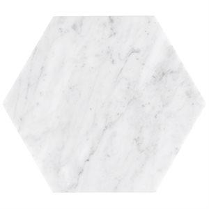 """Epoch White Carrara 10"""" Hexagon Honed"""
