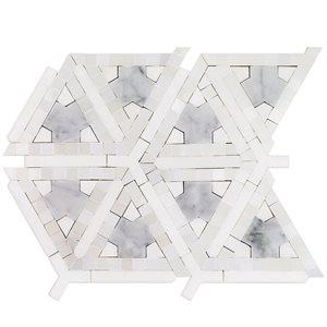 MJ Nibiru - White Thassos, White Carrara & Royal White