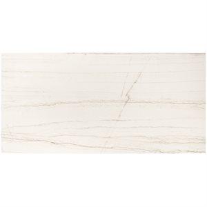 Maharani White Macauba Matte Carving 12x24