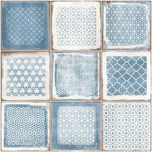 Bernalillo Deco Blue 8x8