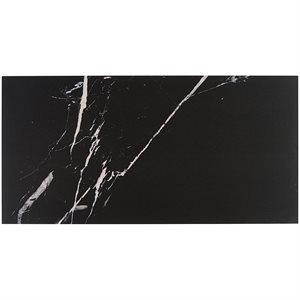 Everyday Marble Nero Marquina Satin 12x24