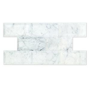 Beveled White Carrara 3x6 Polished