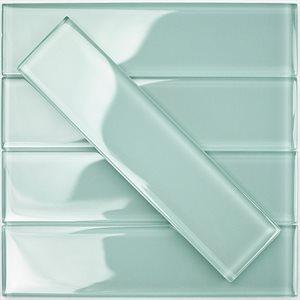 Crystal Ice Mint 2x8 Polished