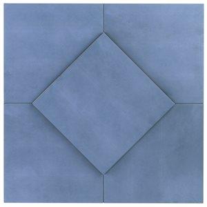 Hampton Floor Steel Blue 8x8